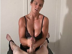 Blonde, Fetish, handjobs, Milking Tits, Sucking Milk, Milking Table, Oiled Teen, Under the Table, Mature Perfect Body