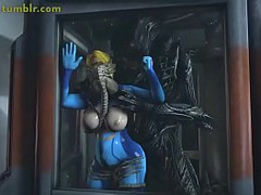 Aliens, toons, Fat Cock Tight Pussy, uncensored Hentai, Perfect Body Fuck