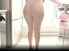 Sexy Maid Porn, red Head, huge Toys, Wall Mounted, Milf High Heels