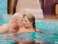 sexy Babe, Cum in Mouth, Extreme Bukkake, Erotic Movie, hungary, Perfect Body Masturbation, at Pool, Sperm Compilation