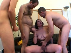 Public Bar Sex, Gangbang, milf Housewife